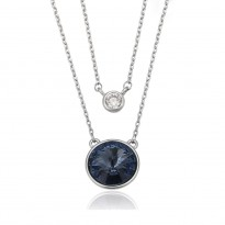 ПОЗОЛОЧЕНЕ КОЛЬЄ З КРИСТАЛАМИ SWAROVSKI BELLA DARK BLUE