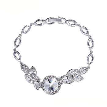Позолочений браслет з кристалами SWAROVSKI Tenderness white